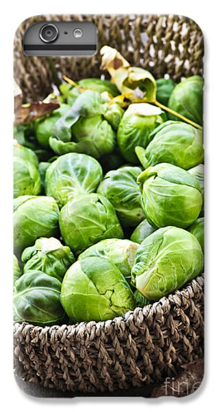 Basket Of Brussels Sprouts IPhone 6 Plus Case by Elena Elisseeva