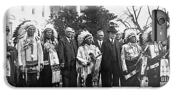 Coolidge With Native Americans IPhone 6 Plus Case by Photo Researchers