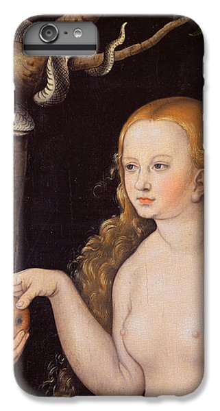 Eve Offering The Apple To Adam In The Garden Of Eden And The Serpent IPhone 6 Plus Case by Cranach