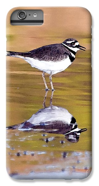 Killdeer Reflection IPhone 6 Plus Case by Betty LaRue