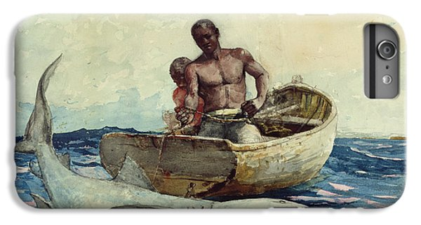 Shark Fishing IPhone 6 Plus Case by Winslow Homer
