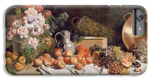 Still Life With Flowers And Fruit On A Table IPhone 6 Plus Case by Alfred Petit
