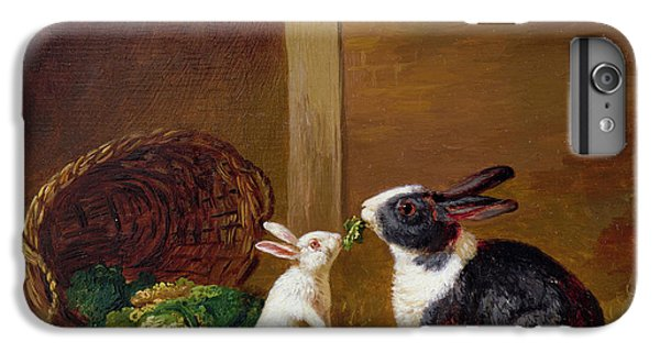 Two Rabbits IPhone 6 Plus Case by H Baert