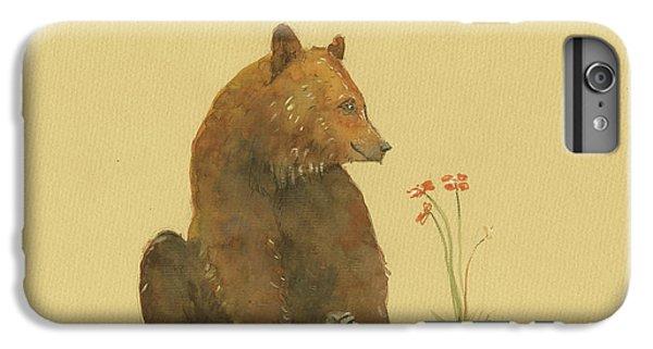 Alaskan Grizzly Bear IPhone 6 Plus Case by Juan Bosco