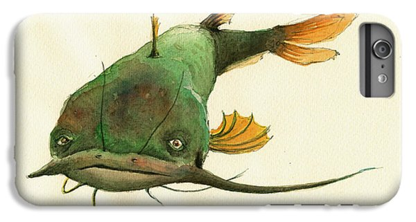 Channel Catfish Fish Animal Watercolor Painting IPhone 6 Plus Case by Juan  Bosco