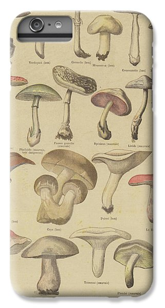 Edible And Poisonous Mushrooms IPhone 6 Plus Case by French School