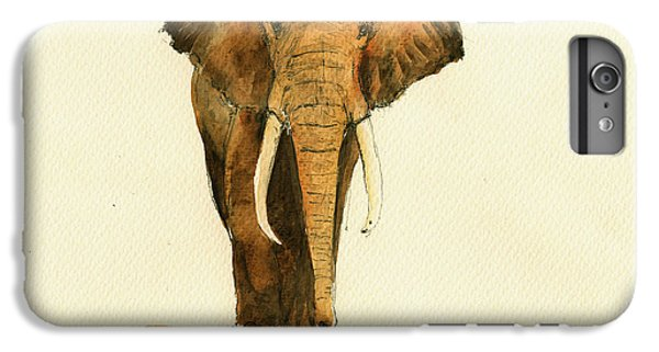 Elephant Watercolor IPhone 6 Plus Case by Juan  Bosco