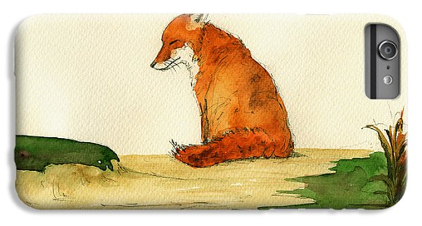 Fox Sleeping Painting IPhone 6 Plus Case by Juan  Bosco