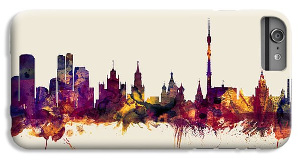 Moscow Russia Skyline IPhone 6 Plus Case by Michael Tompsett