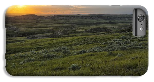 Sunset Over Killdeer Badlands IPhone 6 Plus Case by Robert Postma