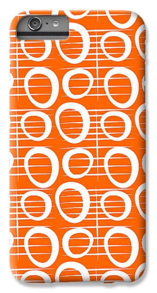 Tangerine Loop IPhone 6 Plus Case by Linda Woods