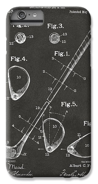 1910 Golf Club Patent Artwork - Gray IPhone 6 Plus Case by Nikki Marie Smith