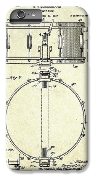 1939 Slingerland Snare Drum Patent S1 IPhone 6 Plus Case by Gary Bodnar