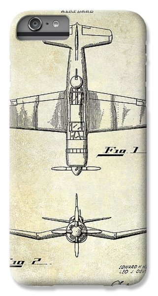 1946 Airplane Patent IPhone 6 Plus Case by Jon Neidert
