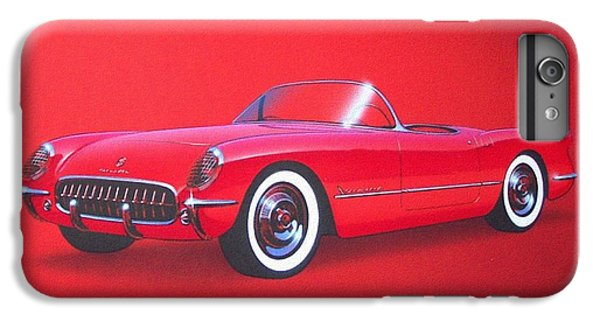1953 Corvette Classic Vintage Sports Car Automotive Art IPhone 6 Plus Case by John Samsen