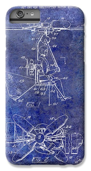 1956 Helicopter Patent Blue IPhone 6 Plus Case by Jon Neidert
