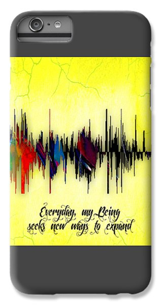 Inspirational Soundwave Message IPhone 6 Plus Case by Marvin Blaine