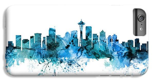 Seattle Washington Skyline IPhone 6 Plus Case by Michael Tompsett