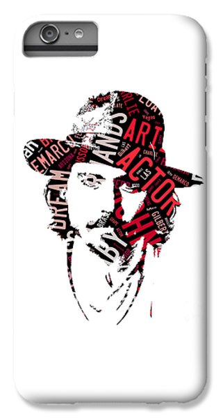 Johnny Depp Movie Titles IPhone 6 Plus Case by Marvin Blaine