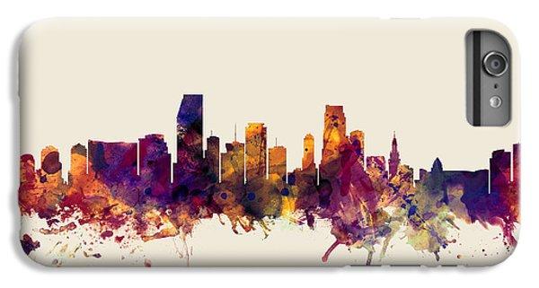 Miami Florida Skyline IPhone 6 Plus Case by Michael Tompsett