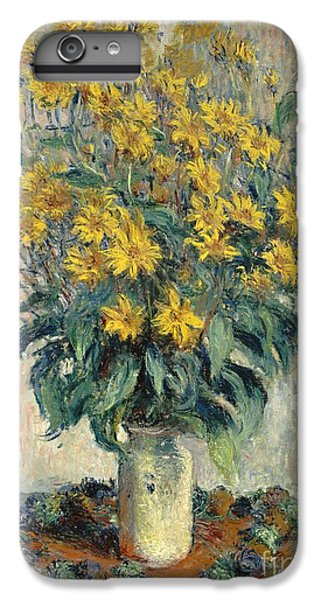 Jerusalem Artichoke Flowers IPhone 6 Plus Case by Claude Monet