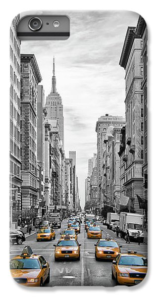 5th Avenue Yellow Cabs - Nyc IPhone 6 Plus Case by Melanie Viola