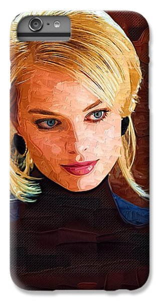 Margot Robbie Painting IPhone 6 Plus Case by Best Actors
