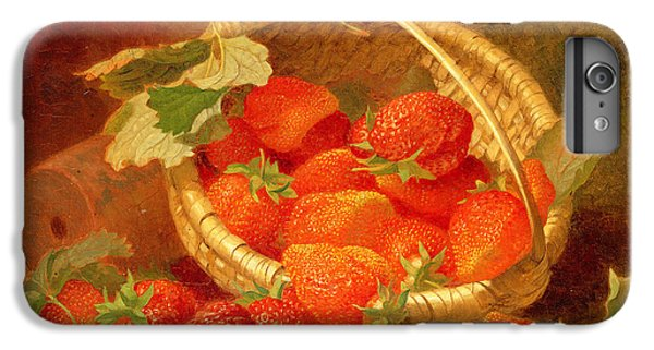 A Basket Of Strawberries On A Stone Ledge IPhone 6 Plus Case by Eloise Harriet Stannard