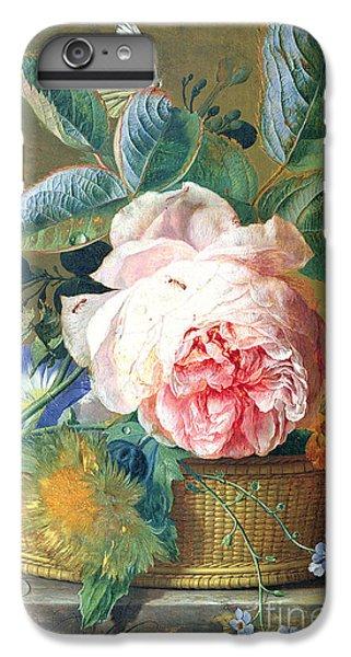 A Basket With Flowers IPhone 6 Plus Case by Jan van Huysum