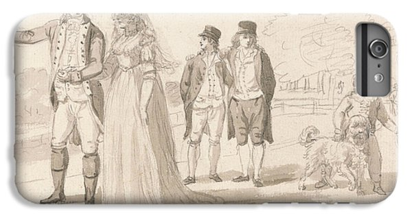A Family In Hyde Park IPhone 6 Plus Case by Paul Sandby