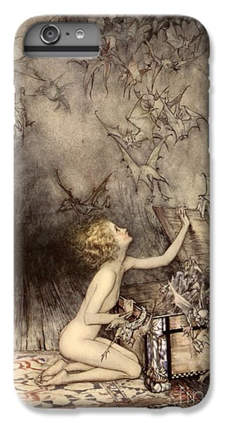 A Sudden Swarm Of Winged Creatures Brushed Past Her IPhone 6 Plus Case by Arthur Rackham