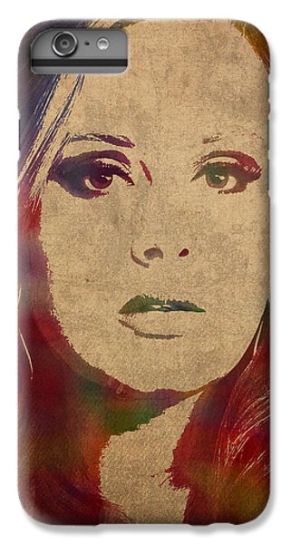 Adele Watercolor Portrait IPhone 6 Plus Case by Design Turnpike