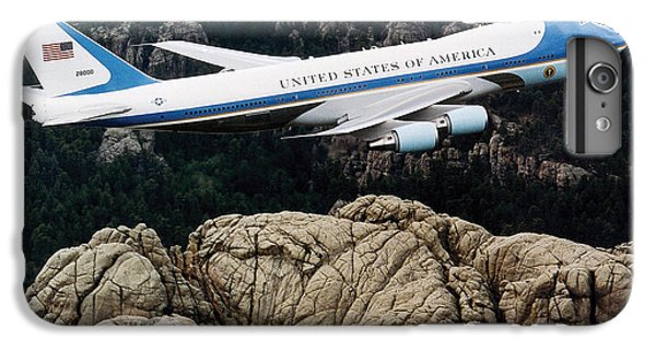 Air Force One Flying Over Mount Rushmore IPhone 6 Plus Case by War Is Hell Store