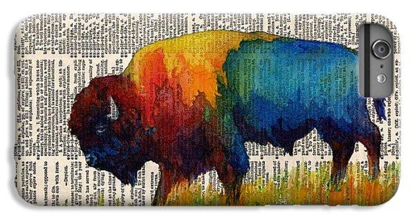 American Buffalo IIi On Vintage Dictionary IPhone 6 Plus Case by Hailey E Herrera