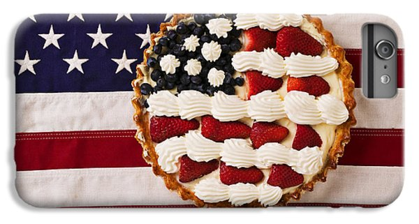 American Pie On American Flag  IPhone 6 Plus Case by Garry Gay