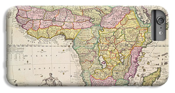 Antique Map Of Africa IPhone 6 Plus Case by Pieter Schenk