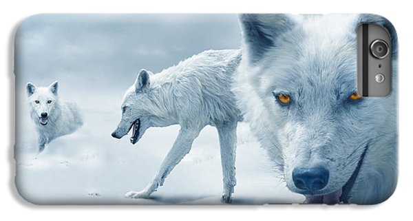 Arctic Wolves IPhone 6 Plus Case by Mal Bray
