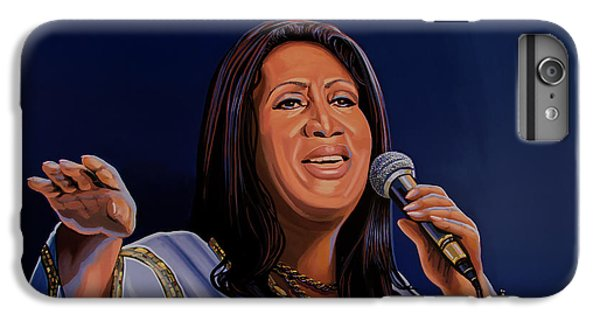 Aretha Franklin Painting IPhone 6 Plus Case by Paul Meijering
