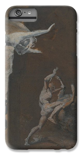 Ariadne Watching The Struggle Of Theseus With The Minotaur IPhone 6 Plus Case by Henry Fuseli