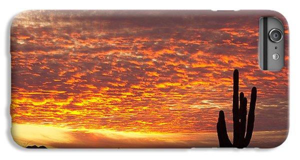 Arizona November Sunrise With Saguaro   IPhone 6 Plus Case by James BO  Insogna