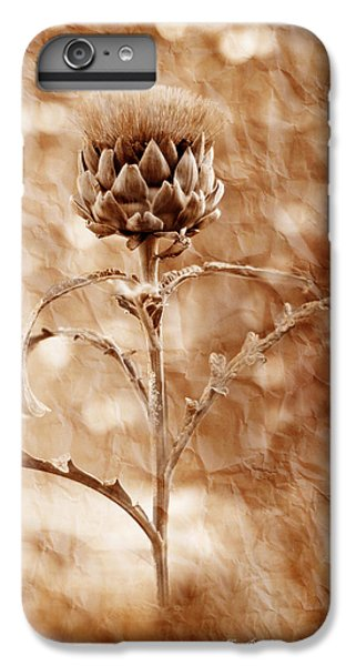 Artichoke Bloom IPhone 6 Plus Case by La Rae  Roberts