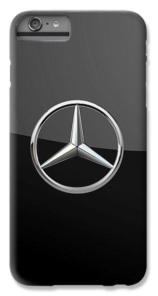 Mercedes-benz - 3d Badge On Black IPhone 6 Plus Case by Serge Averbukh