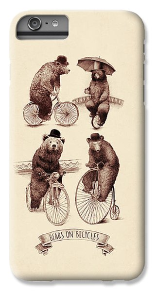 Bears On Bicycles IPhone 6 Plus Case by Eric Fan