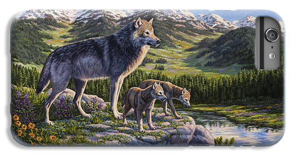 Wolf Painting - Passing It On IPhone 6 Plus Case by Crista Forest