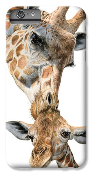 Mother And Baby Giraffe IPhone 6 Plus Case by Sarah Batalka