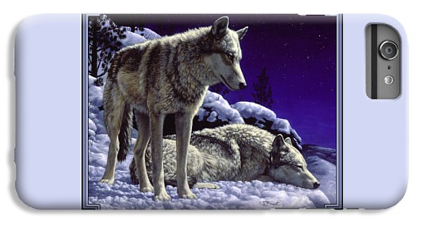 Wolf Painting - Night Watch IPhone 6 Plus Case by Crista Forest