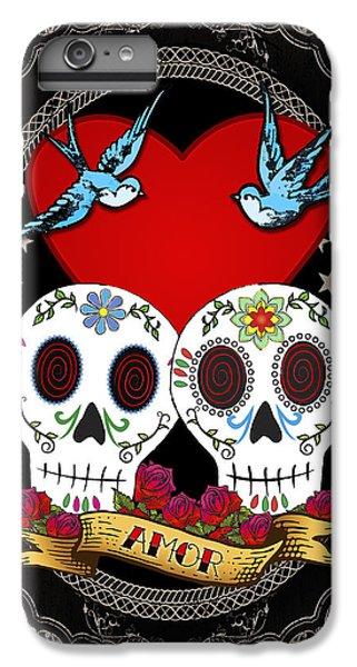 Love Skulls II IPhone 6 Plus Case by Tammy Wetzel