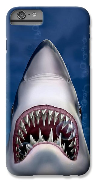 Jaws Great White Shark Art IPhone 6 Plus Case by Walt Curlee