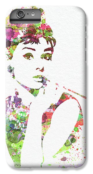 Audrey Hepburn 2 IPhone 6 Plus Case by Naxart Studio
