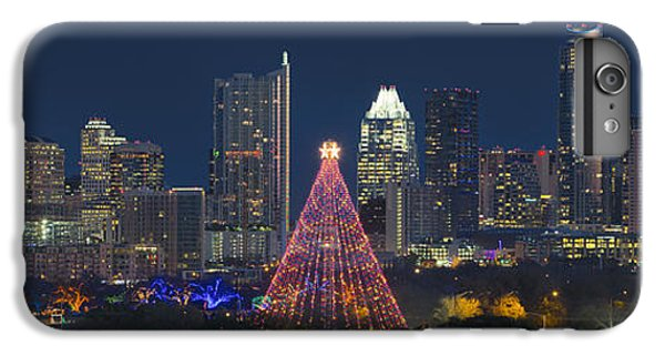 Austin Panorama Of The Trail Of Lights And Skyline IPhone 6 Plus Case by Rob Greebon